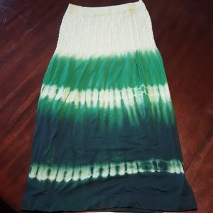 Strapless dress, cover-up top size small, green td